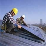 Figure 2: Rooftop solar RV module being installed.