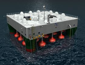 Artist's impression of the wave energy converter. (Image courtesy of Fred Olsen Ltd.)