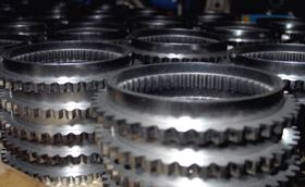 Figure 4. Experimental samples of cone ring parts for the synchroniser assemblies of tractor gearboxes.