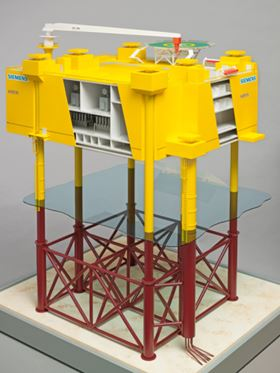 The converter will be set up on an offshore platform, on which alternating current (AC) voltage of 155 kilovolts (kV) will be transformed to 250 kV and then converted into direct current (DC) at the same voltage level. The platform will carry the entire equipment package required for the HVDC converter, essentially comprising the converter itself, two transformers, and the gas-insulated high-voltage switchgear.