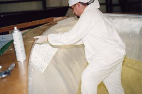 The vacuum infusion-specific adhesive was developed to hold dry materials onto structural surfaces during the vacuum infusion process.