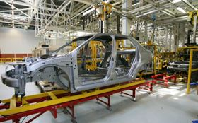 Diminished automotive production put a drag on U.S. industrial numbers in October.