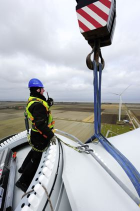 GE's prototype high-efficiency, high-output wind turbine is operational at a test site in the Netherlands.