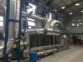 The energy recovered from this thermal oxidiser at Nottingham University provides much of the heat required for process equipment.