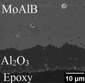 The new corrosion-resistant boride material comprises alternating layers of molybdenum boride and aluminum. Image: Drexel University.
