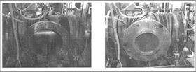 Figure 1. Two views of the microwave furnace used for this project.