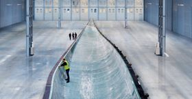 Siemens says the B75 blade is the world's largest fibreglass component cast in one piece. The manufacturing process posed several challenges for the project team. In particular, the mould had to consist of two parts so that it could be transported. (Picture © Siemens.)
