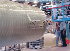 Large winder from MVP fabricating a pipe.