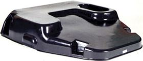 Engine bonnet for a commercial vehicle. This SMC part is 3 mm thick and weighs 4.92 kg.
