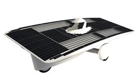 The solar car is built with composites from TenCate. Picture courtesy of TenCate.