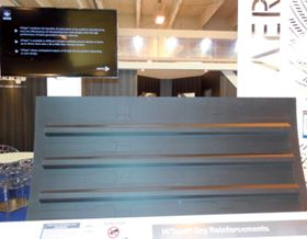 HiTape® aircraft fuselage panel made by Hexcel in partnership with Aerolia and Coriolis Composites.