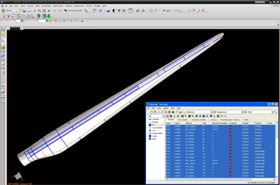 Figure 2: Software applications such as VISTAGY's FiberSIM complement the 3D CAD systems with powerful capabilities for composites design and manufacture. This image shows how such software enables complete and detailed glass layup definition prior to any prototyping and production. Design changes can be quickly and reliably included in the development process.