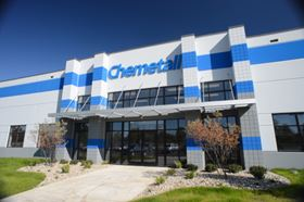 Chemetall's new $25 million chemical manufacturing plant will cover 200,000 square feet, housing administrative, manufacturing, warehousing operations, and a physical testing laboratory.