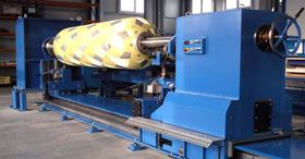 W&W filament winder WW2-2200-1200 provides 4 axes of motion control and a machine bed length of 15 m (49.2 ft).