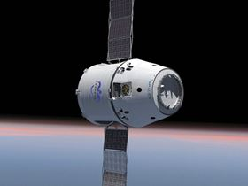 In December 2008, NASA announced the selection of SpaceX's Falcon 9 launch vehicle and Dragon spacecraft to resupply the International Space Station (ISS) when the Space Shuttle retires. The $1.6 billion contract represents a minimum of 12 flights, with an option to order additional missions for a cumulative total contract value of up to $3.1 billion. Though designed to address cargo and crew requirements for the ISS, as a free-flying spacecraft Dragon also provides an excellent platform for in-space technology demonstrations and scientific instrument testing. (Picture courtesy of SpaceX.)