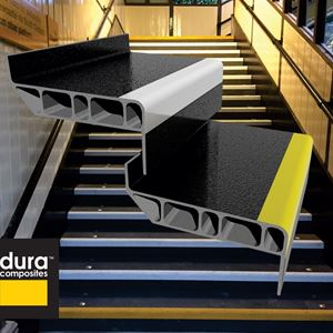 Composite stair treads win design award materials today for Composite exterior stair treads