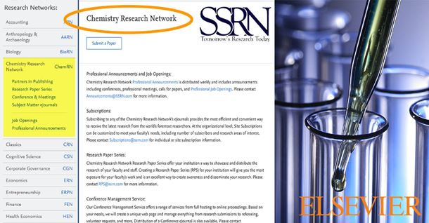 SSRN launches ChemRN - a working paper repository and preprint server