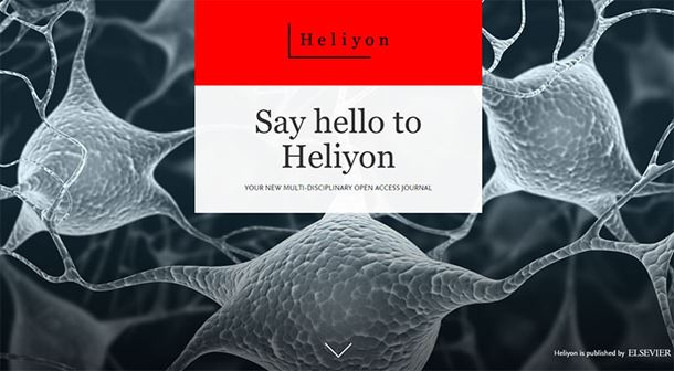 Say hello to Heliyon: New open access journal open for submissions