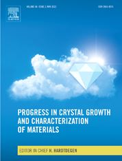 Progress in Crystal Growth and Characterization of Materials