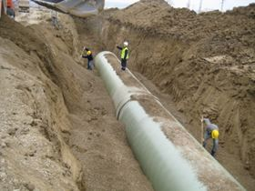 World's largest high pressure, large diameter GRP pipe project