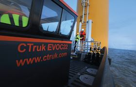 The CTruk EVOC22 (Efficient Versatile Offshore Catamaran) was conceived with the UK's Round 3 offshore wind parks (set to enter construction from 2014 onwards) in mind.