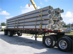 The FRP pipe and duct products are available in sizes ranging from 3/8 inch to 168 inch.