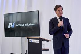 Mark Rutte has opened Additive Industries' new facility in the Netherlands.