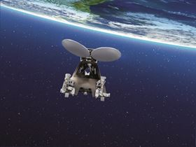 Telecommunication satellite: the three additive manufactured brackets easily withstand a temperature range of 330°C and meet the high demand of permanent space missions (Source: Airbus Defence and Space).