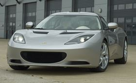 The Lotus Evora, named Sports Car of the Year by BBC's Top Gear magazine, features stressed composite body panels and roof, which contribute to the car's stiffness.