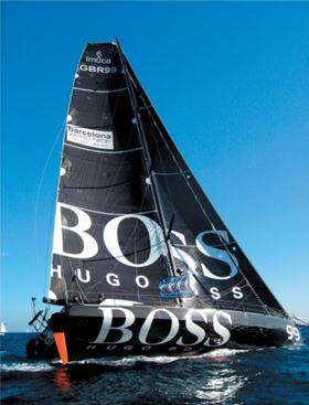 HUGO BOSS at the start of the Barcelona World Race on 11 November 2007. (Picture courtesy of Gurit UK.)