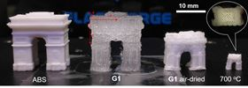 This photo shows a 3D-printed object composed of hydrogel (G1) changing size after printing. Photo: Chenfeng Ke.