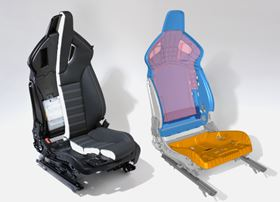Glass reinforced composites eliminate the need for steel frames in moulded performance seats developed by Opel and Recaro.