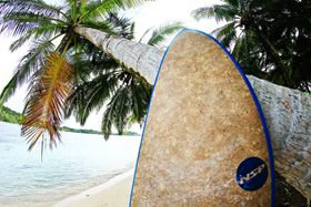 The company's Coco Mat Technology and Bio-Based Surfboards reportedly meet Ecoboard requirements.
