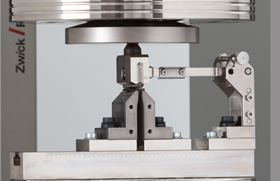 This Zwick test fixture is designed specifically for the Interlaminar Shear (ILSS) testing of composites.