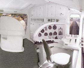 The improved interior design was developed using composites.