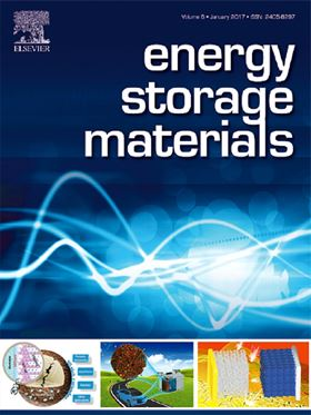 Energy Storage Materials 2016 Best Paper Award and Most Cited Paper Award