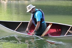 Flax reinforced composite used in lightweight sports canoe