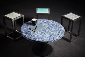 Coffee tables fabricated by SMaRT Microfactories.