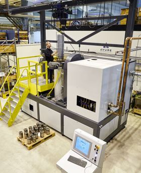 Avure's new Isostatic Pressing Application Center in Västerås, Sweden, allows parts manufacturers to verify fabrication processes and attain cycle optimization before going into full-scale production. (Photo courtesy Avure Technologies)