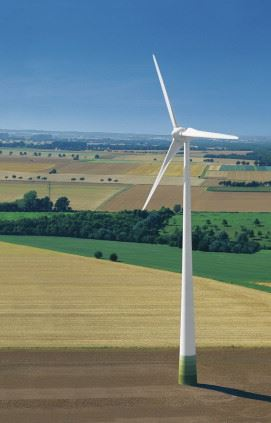 The wind energy industry is continuing to experience high growth rates, which is good news for suppliers of composite materials and processing equipment. (Picture courtesy of Enercon.)