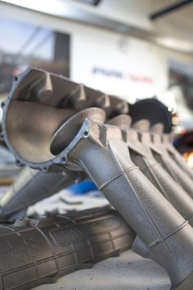 The Brunel University London race team has created a 3D printed manifold part for its BR-XX car.