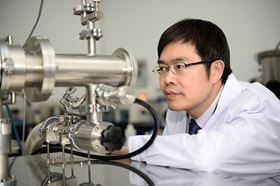 Professor Cheng in the lab.