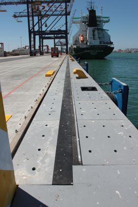 Glass reinforced cable trays have been used to make gantry cranes safer in a South African container port.