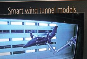 Figure 6. Futuristic 'smart' wind-tunnel model of hybrid transport.