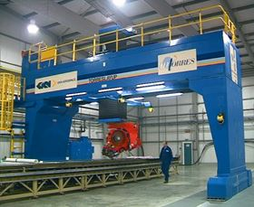 "M.Torres machine used by GKN Aerospace, ""wing worker for the world."""