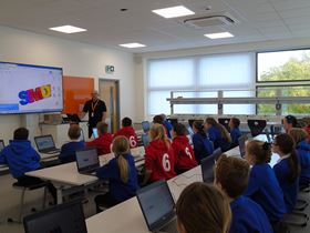 Working with schools at an education facility in South Wales.