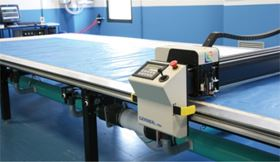 The Gerber Technology DCS 2500 cutting system installed at Italian company CAM.