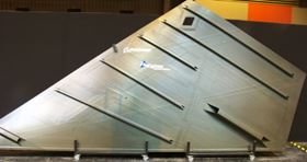 This Boeing aircraft wing skin incorporates Cytec prepreg materials in its construction.