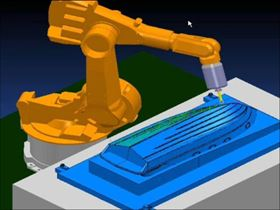 Delcam's IMTS presentation will cover the use of robots for composites machining.