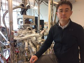 Peng Wei is a condensed-matter physicist at UCR, studying quantum states of electrons in new materials. Photo: I. Pittalwala, UC Riverside.